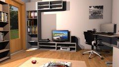 Raumgestaltung Wohnung ohne Kleiderschrank in der Kategorie Wohnzimmer