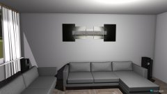 Raumgestaltung Wohnzimmer, 1. Entwurf in der Kategorie Wohnzimmer