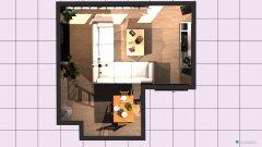 Raumgestaltung Wohnzimmer 2 mit einzel in der Kategorie Wohnzimmer