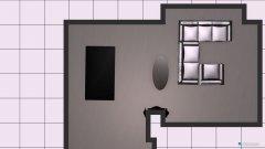 Raumgestaltung Wohnzimmer 2017 mit U-Sofa in der Kategorie Wohnzimmer