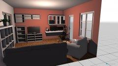 Raumgestaltung Wohnzimmer Arbeitsraum Kombi in der Kategorie Wohnzimmer