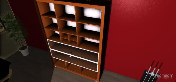 Raumgestaltung Wohnzimmer-Arbeitszimmer in der Kategorie Wohnzimmer