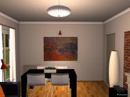 Raumgestaltung Wohnzimmer - before and after in der Kategorie Wohnzimmer