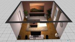 Raumgestaltung Wohnzimmer braun  in der Kategorie Wohnzimmer