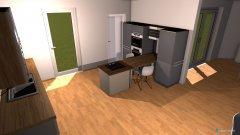 Raumgestaltung Wohnzimmer Bungalow in der Kategorie Wohnzimmer