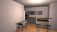 Raumgestaltung Wohnzimmer Essen und Kücheninsel in der Kategorie Wohnzimmer