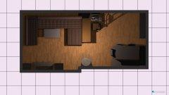Raumgestaltung Wohnzimmer-Esszimmer in der Kategorie Wohnzimmer