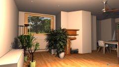 Raumgestaltung Wohnzimmer Holzhausen 1. Entwurf in der Kategorie Wohnzimmer