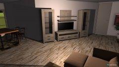 Raumgestaltung Wohnzimmer Holzhausen 2. Entwurf in der Kategorie Wohnzimmer