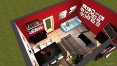 Raumgestaltung Wohnzimmer in rot in der Kategorie Wohnzimmer