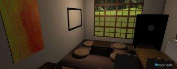 Raumgestaltung Wohnzimmer japanisch in der Kategorie Wohnzimmer