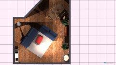 Raumgestaltung Wohnzimmer Küche Couch über Eck im Raum Fernseher bei Balkontür in der Kategorie Wohnzimmer