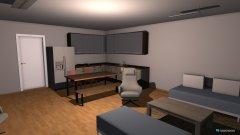 Raumgestaltung Wohnzimmer Küche Ecke Tisch in der Kategorie Wohnzimmer
