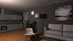 Raumgestaltung Wohnzimmer+Küche+Flure in der Kategorie Wohnzimmer