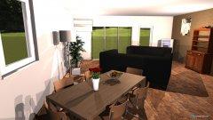 Raumgestaltung Wohnzimmer Küche neue Aufteilung Couch parallel Ferseher wie 1 in der Kategorie Wohnzimmer