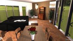 Raumgestaltung Wohnzimmer Küche neue Aufteilung Couch parallel in der Kategorie Wohnzimmer