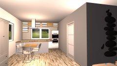 Raumgestaltung Wohnzimmer Küche vorne 01 in der Kategorie Wohnzimmer