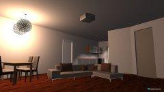 Raumgestaltung Wohnzimmer- Küche in der Kategorie Wohnzimmer