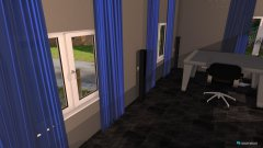 Raumgestaltung Wohnzimmer - Küche in der Kategorie Wohnzimmer