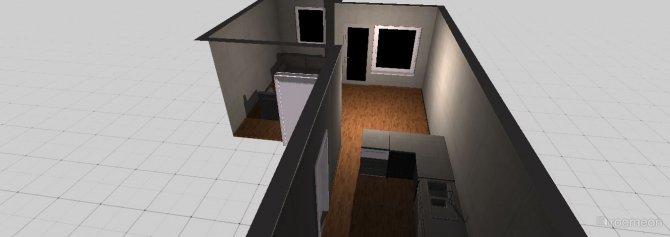 Raumgestaltung Wohnzimmer + Küche in der Kategorie Wohnzimmer