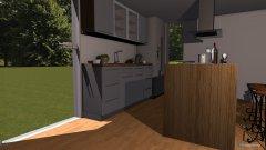 Raumgestaltung Wohnzimmer-Küche in der Kategorie Wohnzimmer