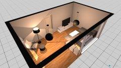 Raumgestaltung Wohnzimmer Kyffhäuserstr. in der Kategorie Wohnzimmer