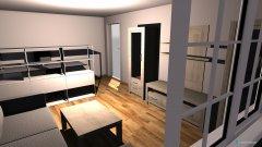 Raumgestaltung Wohnzimmer mit arbeitszimmer in der Kategorie Wohnzimmer