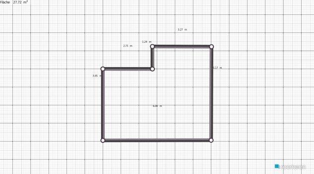 Raumgestaltung Wohnzimmer mit Beamer in der Kategorie Wohnzimmer