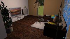 Raumgestaltung wohnzimmer mit dielen in der Kategorie Wohnzimmer