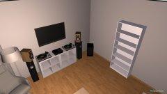 Raumgestaltung Wohnzimmer mit DJ in der Kategorie Wohnzimmer