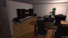 Raumgestaltung Wohnzimmer mit Einrichtung in der Kategorie Wohnzimmer