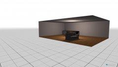 Raumgestaltung Wohnzimmer mit Essbereich und Küche in der Kategorie Wohnzimmer