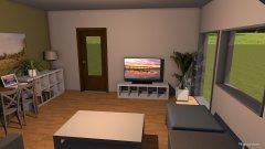 Raumgestaltung Wohnzimmer mit Esstisch in der Kategorie Wohnzimmer