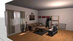 Raumgestaltung Wohnzimmer mit Gitarre in der Kategorie Wohnzimmer