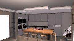 Raumgestaltung Wohnzimmer mit Küche Neu mit Kochinsel + Bora + Siemens+nur abgehäbgte Decke in der Kategorie Wohnzimmer