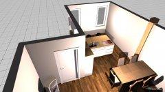 Raumgestaltung Wohnzimmer mit Küche offen in der Kategorie Wohnzimmer
