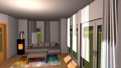 Raumgestaltung Wohnzimmer mit Ofen in der Kategorie Wohnzimmer