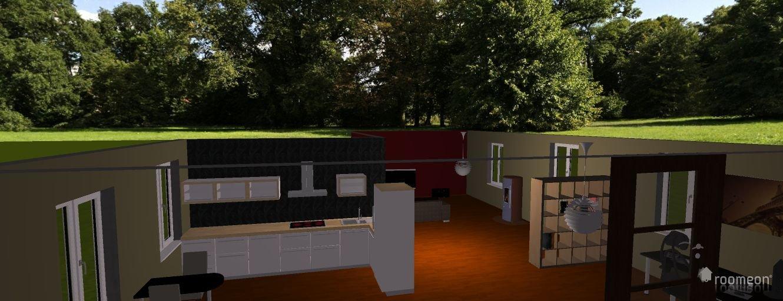 raumplanung wohnzimmer mit offener k che roomeon community. Black Bedroom Furniture Sets. Home Design Ideas