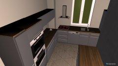 Raumgestaltung Wohnzimmer mit offener Küche in der Kategorie Wohnzimmer