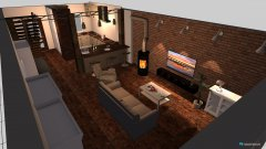 Raumgestaltung Wohnzimmer mit Stütze in der Kategorie Wohnzimmer