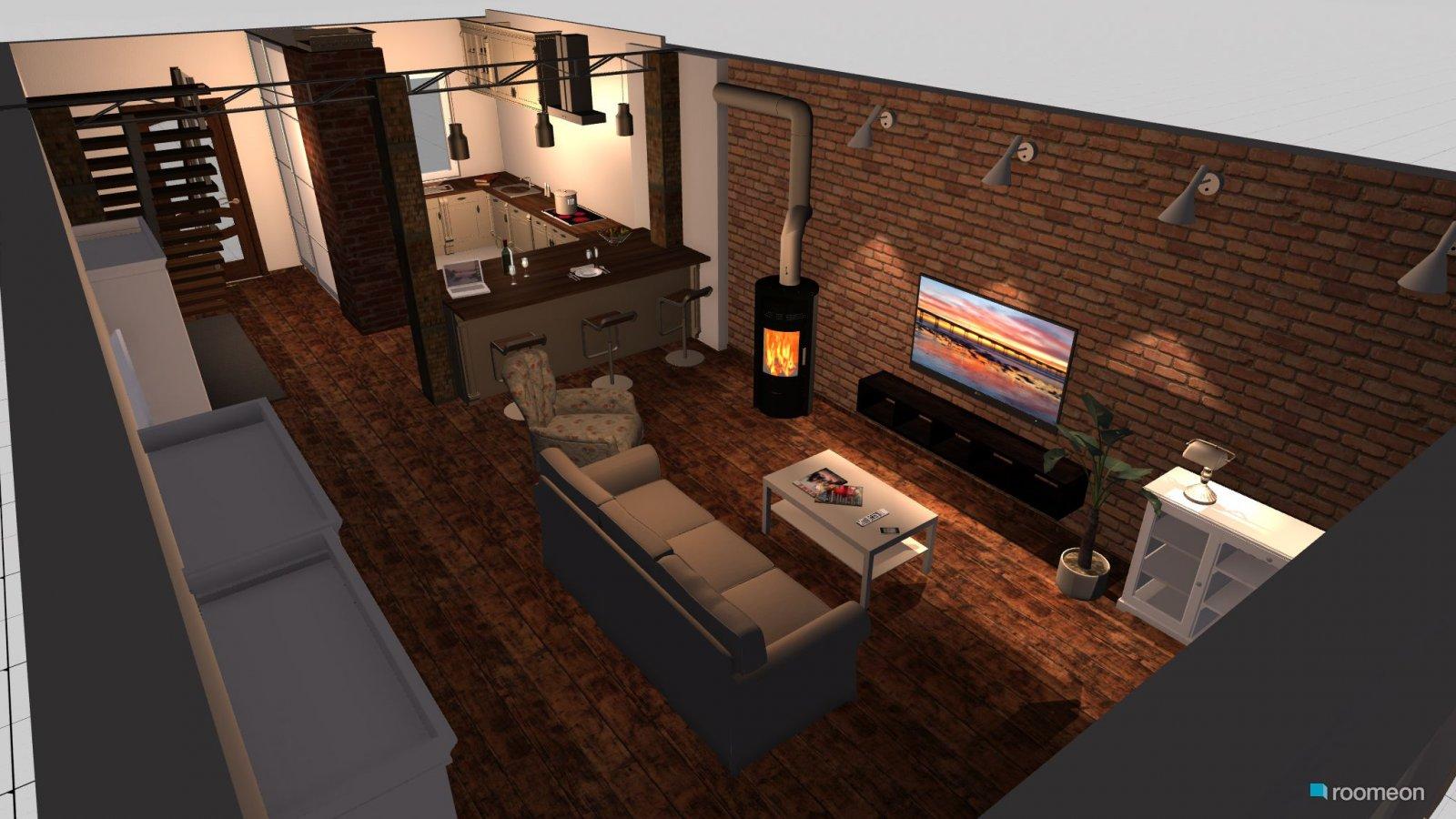 raumplanung wohnzimmer mit st tze roomeon community. Black Bedroom Furniture Sets. Home Design Ideas