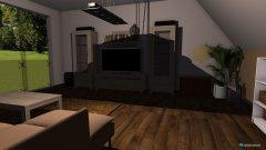 Raumgestaltung Wohnzimmer mit terasse in der Kategorie Wohnzimmer