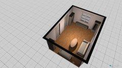 Raumgestaltung Wohnzimmer mit Vitrinen in der Kategorie Wohnzimmer