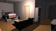 Raumgestaltung Wohnzimmer ohne Maßen in der Kategorie Wohnzimmer