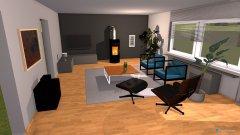 Raumgestaltung Wohnzimmer ohne Sofa in der Kategorie Wohnzimmer