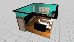 Raumgestaltung Wohnzimmer Schlesierstraße in der Kategorie Wohnzimmer
