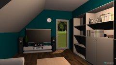 Raumgestaltung Wohnzimmer Schrägwand in der Kategorie Wohnzimmer