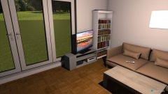 Raumgestaltung Wohnzimmer Schreibtisch an Wand in der Kategorie Wohnzimmer