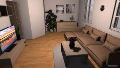Raumgestaltung wohnzimmer Tüchen in der Kategorie Wohnzimmer