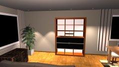 Raumgestaltung Wohnzimmer TV neben Kamin in der Kategorie Wohnzimmer